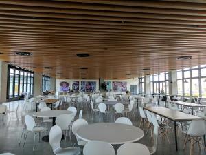 The cafeteria area